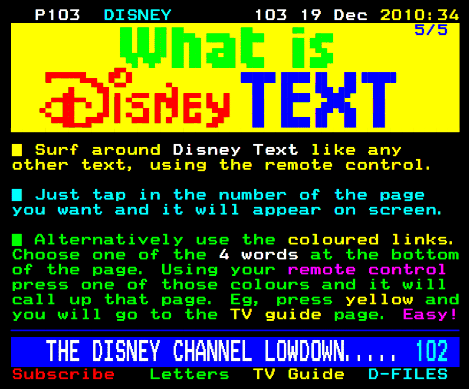 Tv whirl other teletext.